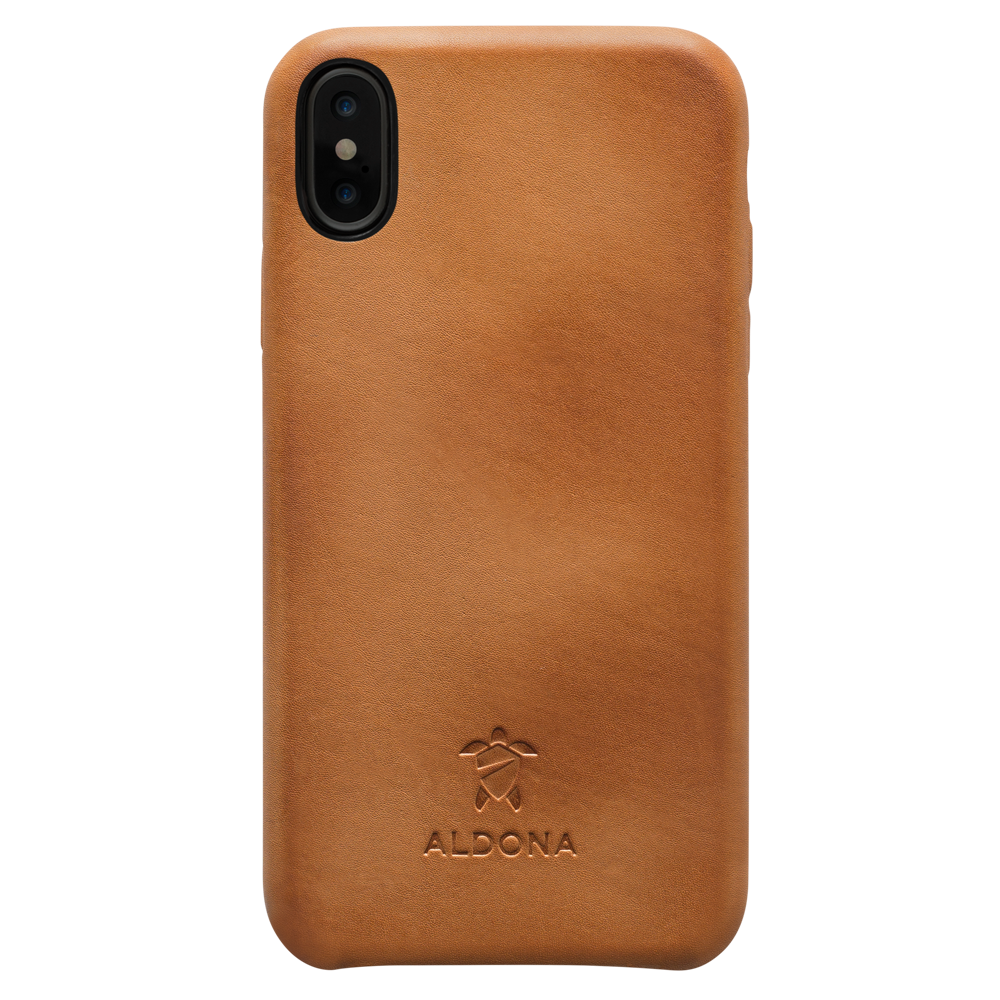Kalon Leather iPhone XS Max Snap Case - Vintage Tan Colour