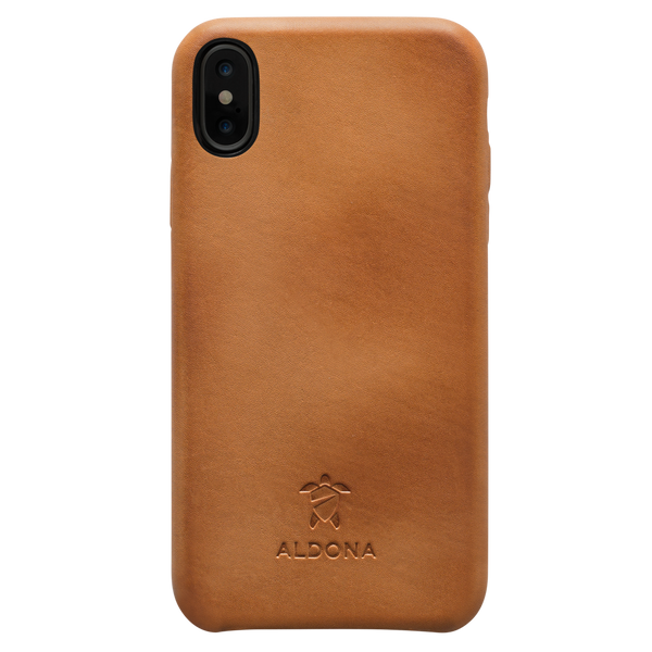 Kalon Leather iPhone XS / X Snap Case - Vintage Tan Colour