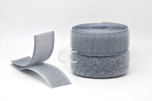 Silver Sew-on Hook & Loop tape Alfatex® Brand supplied by the Velcro Companies