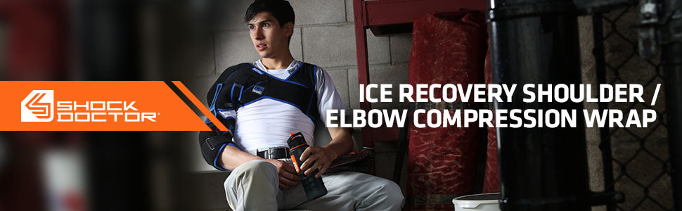 Shock Doctor Ice Recovery Shoulder-Elbow Compression Wrap Product Header Image