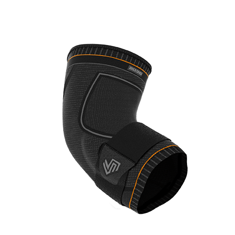 Ultra Compression Knit Elbow Support with Gel Support & Strap