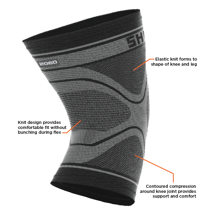 0fbca23733 Shock Doctor Compression Knit Knee Sleeve Features
