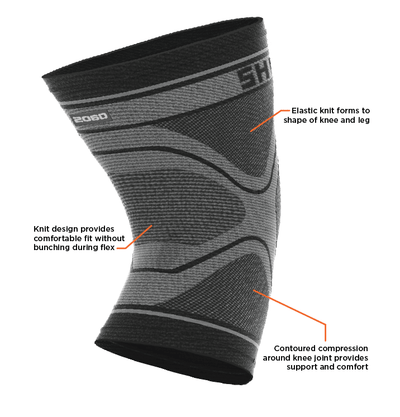Shock Doctor Compression Knit Knee Sleeve Features
