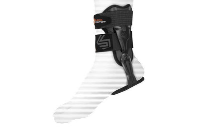 V-Flex Ankle Brace on foot - black
