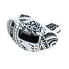 Chrome Tribal Max AirFlow Football Mouthguard - White/Black   - Front Angle of Lipguard