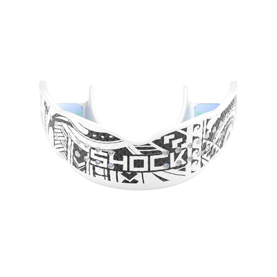 Shock Doctor Trash Talker White Tribal Mouthguard - Front Angle