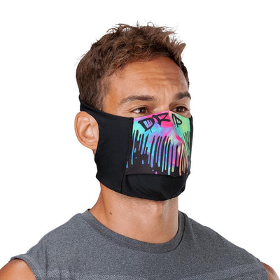 Drip Play Safe Face Mask – Male Model Wearing Protective Safety Face Mask - Right Angle