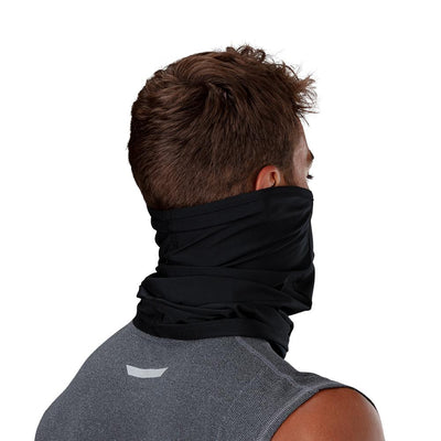 Black Play Safe Neck-Face Gaiter – Male Model Wearing Protective Safety Face and Neck Covering - Back of Head Angle