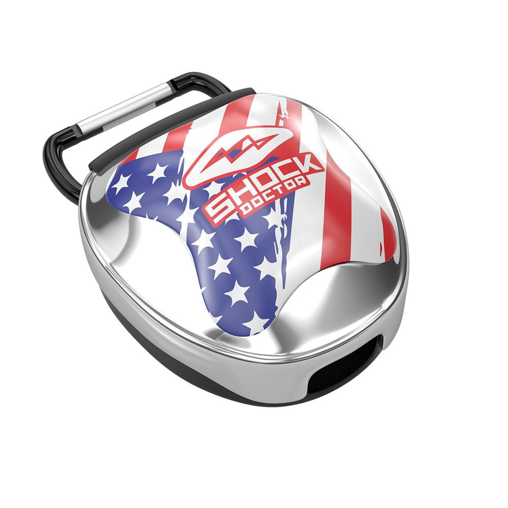 Chrome Flag Mouthguard Case