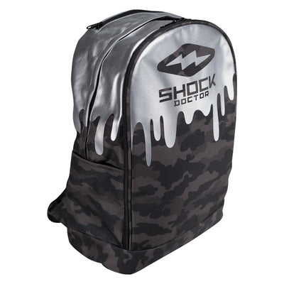 Shock Doctor Premium Camo Drip Backpack - Side Angle View