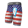 Teen American Flag Core Compression Short with Bio-Flex Cup - Front View