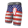 Youth Boys American Flag Core Compression Short with Bio-Flex Cup - Front View