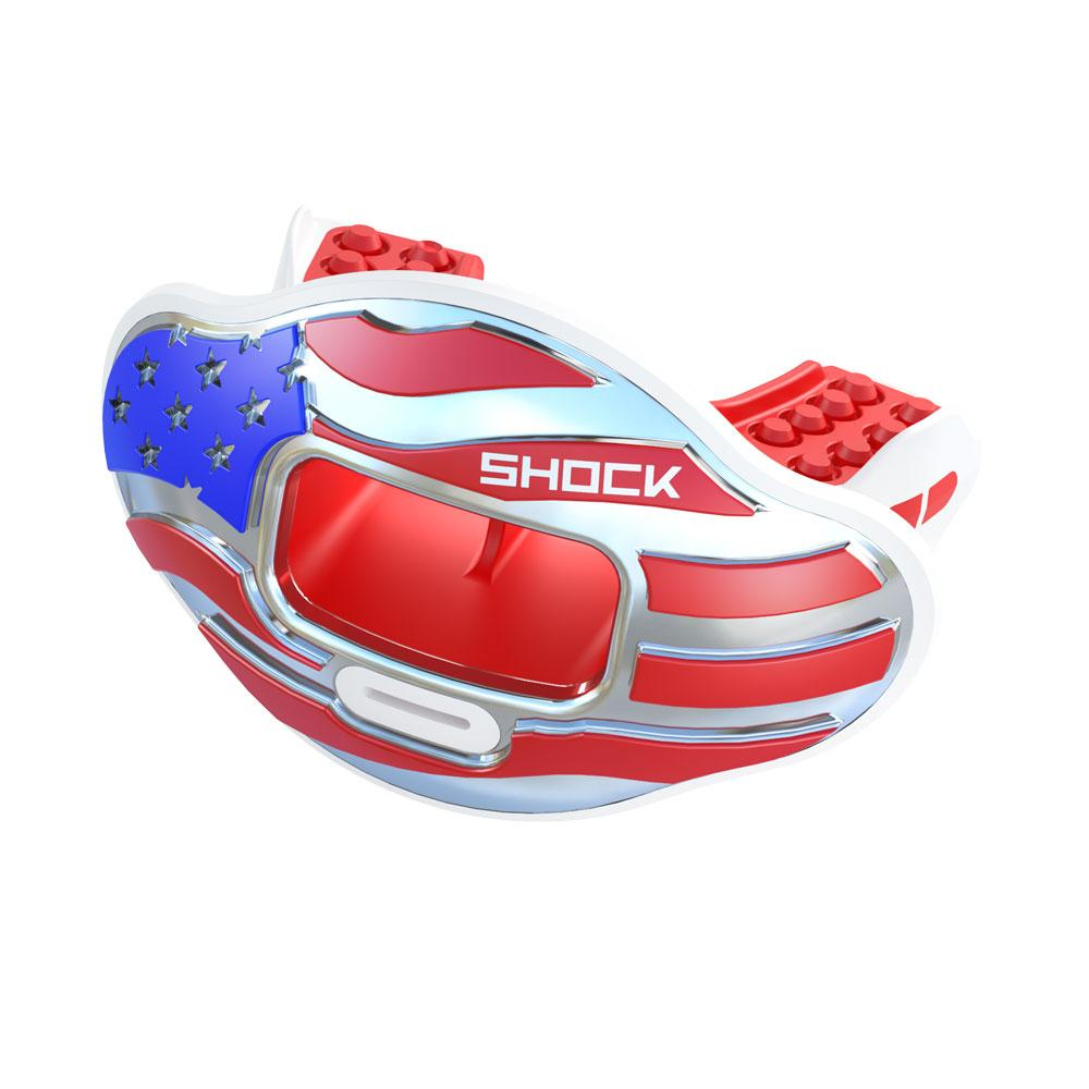 Chrome 3D Stars & Stripes Max AirFlow Football Mouthguard