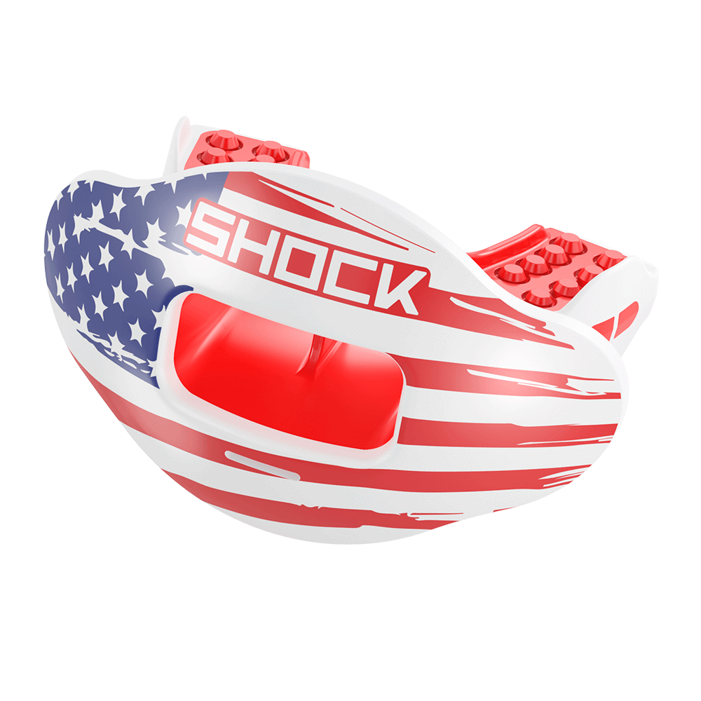 USA Flag Max AirFlow Football Mouthguard