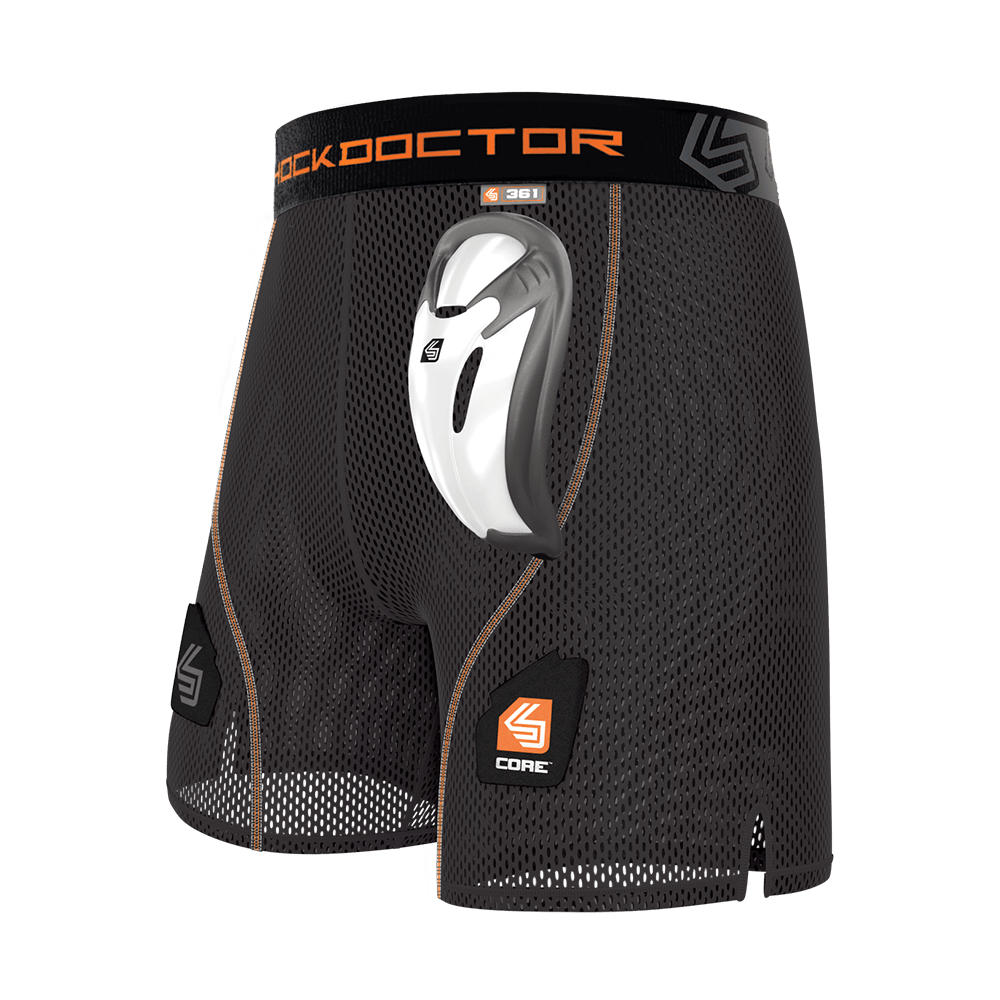 Adult /& Youth Sizes Shock Doctor Compression Short Cup Supporter with AirCore Soft Cup