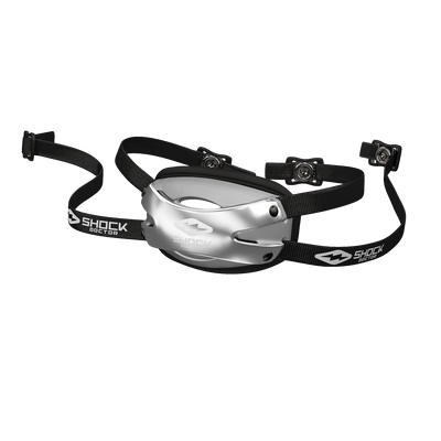 Showtime Chrome Silver Football Chinstrap For Youth and Adult Athletes