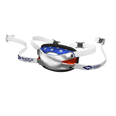 Shock Doctor Showtime USA Flag Football Chin Strap for Youth and Adult Athletes