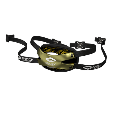 Shock Doctor Showtime Gold Tribal Football Chin Strap for Youth and Adult Athletes