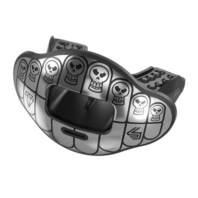 Chrome Mini Skulls Max AirFlow Football Mouthguard