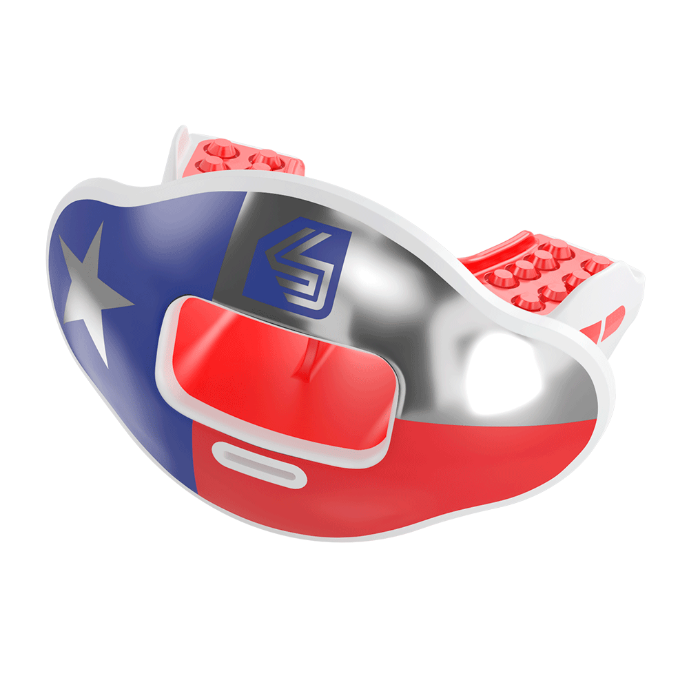 Chrome Texas Max AirFlow Football Mouthguard
