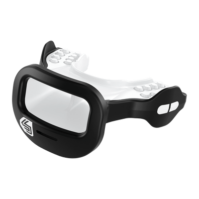 Black Mutant Shock Doctor Mouthguard for Youth and Adult Athletes - Side View