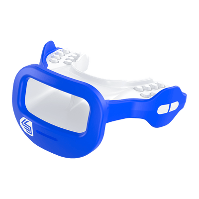 Blue Mutant Shock Doctor Mouthguard for Youth and Adult Athletes - Side View