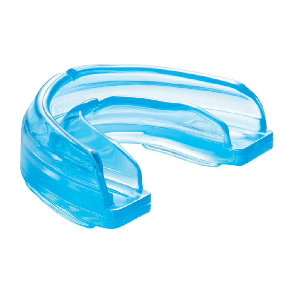 Blue Braces Strapless Mouthguard for Youth and Adult Athletes - Side Angle