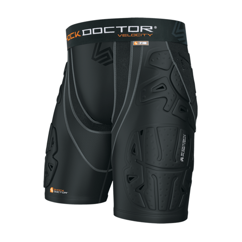 Shock Doctor Ultra Womens Shorts Double Compression with Pelvic Protection