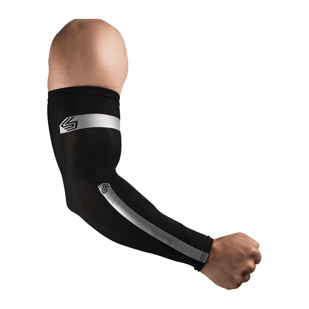 Compression Reflective Arm Sleeves/Pair