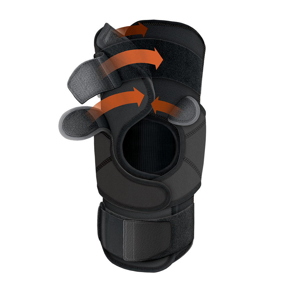 44e1aa719a Quick-On™ Knee Stabilizer w/ Flexible Support Stays & Straps - Shock ...
