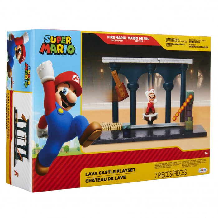 "World of Nintendo 2.5"" Lava Castle Playset"
