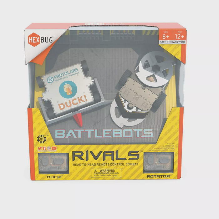 HEXBUG BattleBots Rivals 5.0 Rotator and Duck!