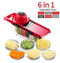 Load image into Gallery viewer, 6-in-1 Multifunctional Mandoline Slicer ⭐⭐⭐⭐⭐