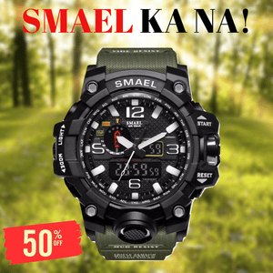 SMAEL ARMY GREEN MULTIFUNCTIONAL WATCH