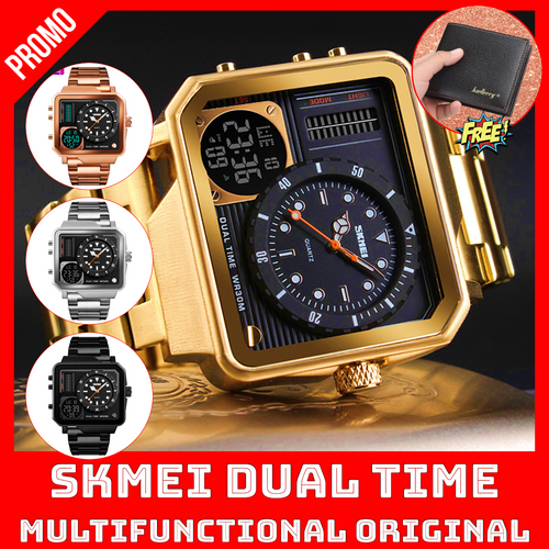 SKMEI DUAL TIME MULTIFUNCTIONAL ORIGINAL + FREE CLASSIQUE LUXURY WALLET ⭐⭐⭐⭐⭐