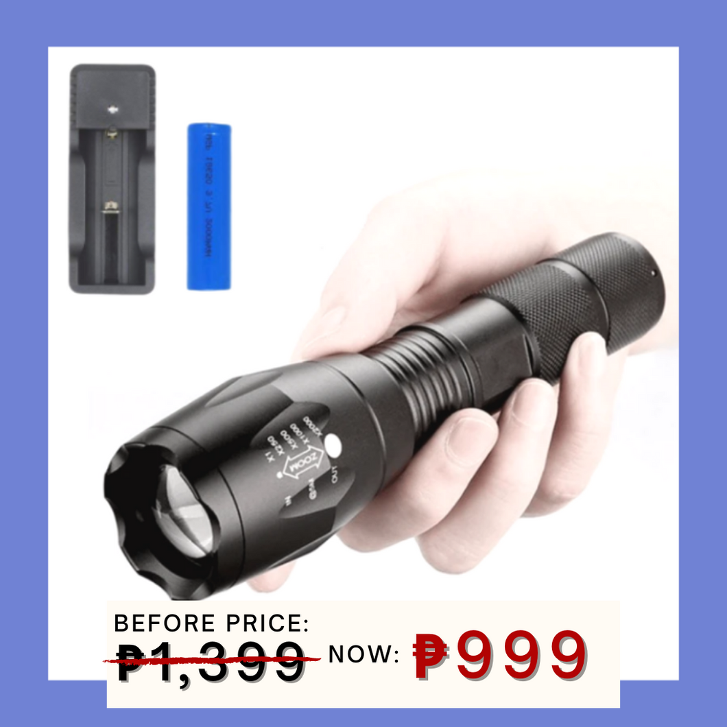 11.11 TACTICAL FLASHLIGHT + FREE GIFT ⭐⭐⭐⭐⭐