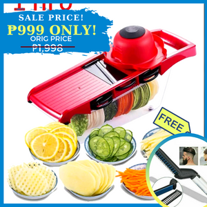 AZE 6-in-1 Multifunctional Mandoline Slicer + FREE GIFT  ⭐⭐⭐⭐⭐