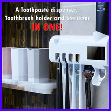 Load image into Gallery viewer, UV Light Sterilizer Toothpaste dispenser  + FREE GIFT ⭐⭐⭐⭐⭐⭐⭐