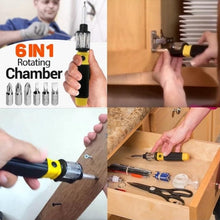Load image into Gallery viewer, 6-in-1 Screwdriver with FREE Universal Wrench