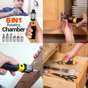 6-in-1 Screwdriver with FREE Universal Wrench