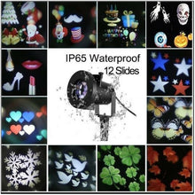 Load image into Gallery viewer, Spectacular Moving Christmas/Party Outdoor Projector with 12 Slides