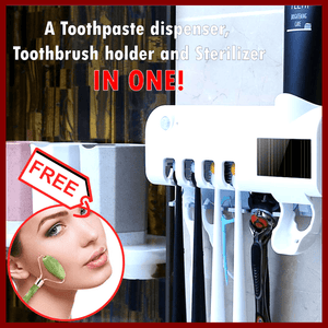 UV Light Sterilizer Toothpaste dispenser  + FREE GIFT ⭐⭐⭐⭐⭐⭐⭐