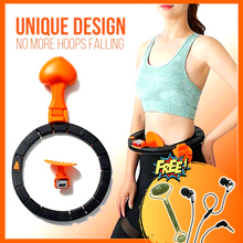 Load image into Gallery viewer, Never Falling Portable Smart Exercise Hula Hoop + JADE ROLLER & EARPHONES ⭐⭐⭐⭐⭐