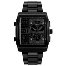 Load image into Gallery viewer, SKMEI SQUARE ANALOG DIGITAL WATCH + CLASSIQUE SLIM WALLET