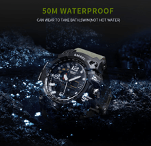 Load image into Gallery viewer, SMAEL ARMY GREEN MULTIFUNCTIONAL WATCH