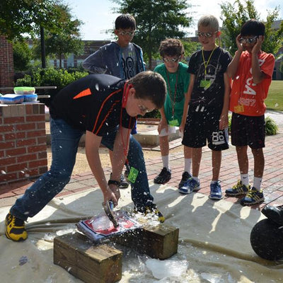 Breaking the ice at Smile Summer Camp in Raleigh, NC