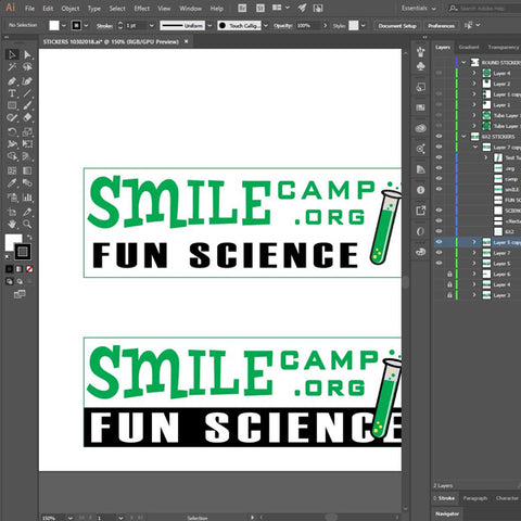 Using Adobe Design at Smile Summer Camp in Raleigh, NC