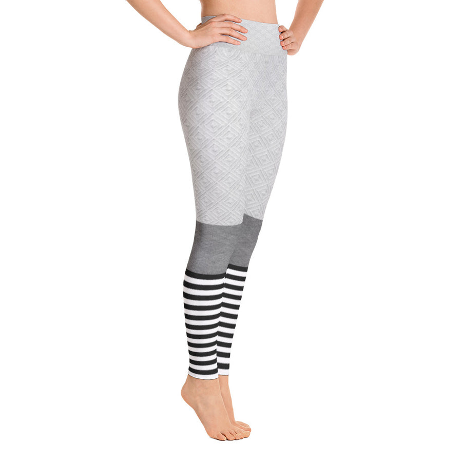 . High Waist Grey Goose Leggings