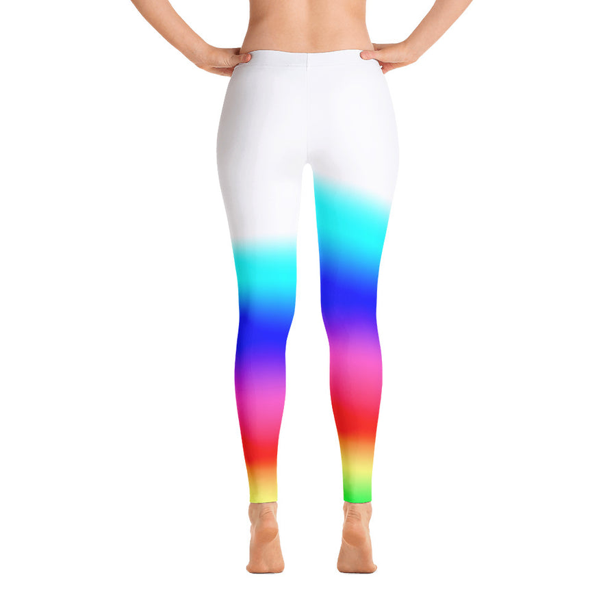 High Waist Rainbow Leggings