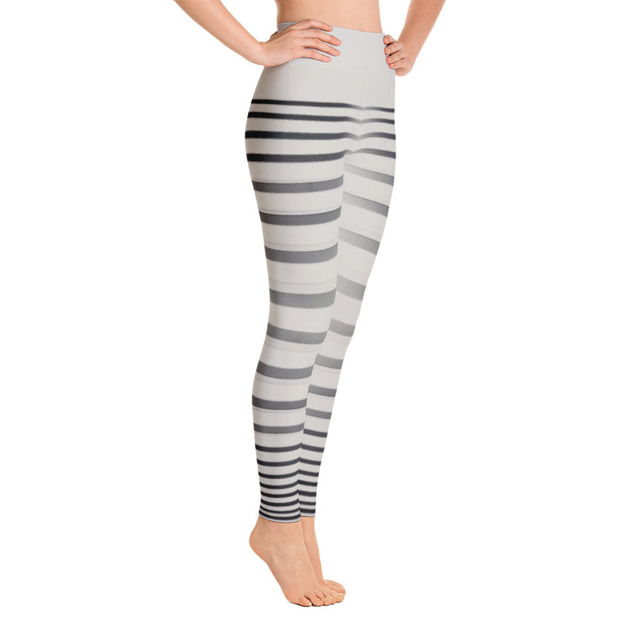 . High Waist Zebra Stripes Leggings